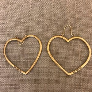 JUICY COUTURE GOLD HEART HOOPS
